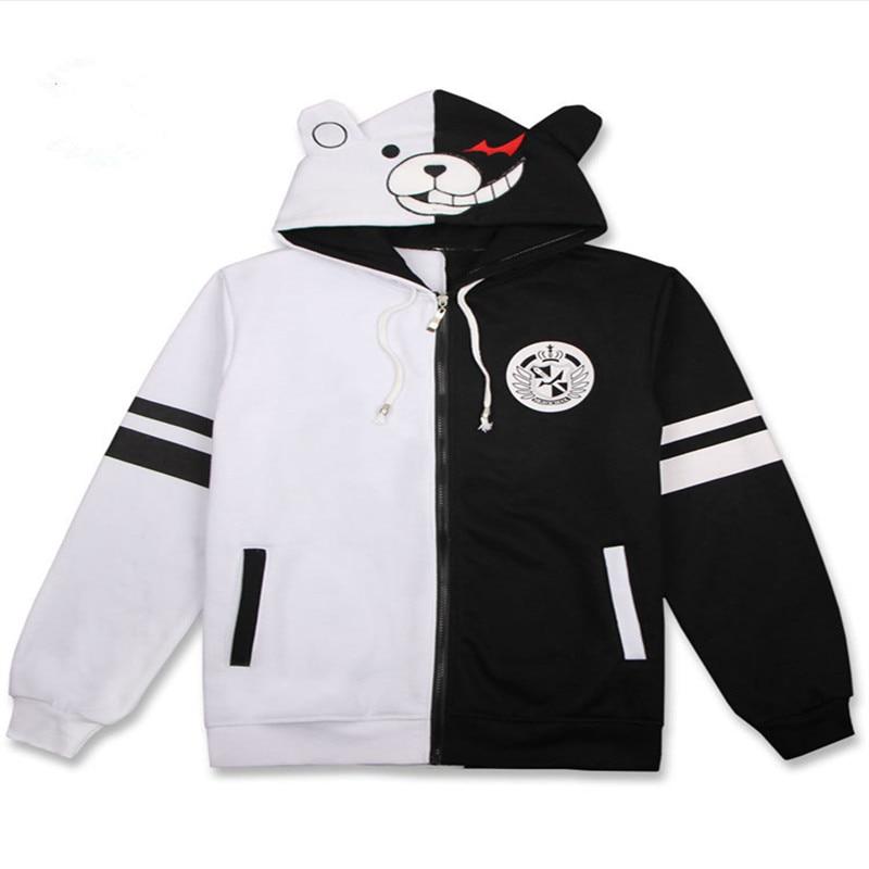 Danganronpa – Monokuma Unisex Black and White Hoodie (4 Styles) Hoodies & Sweatshirts