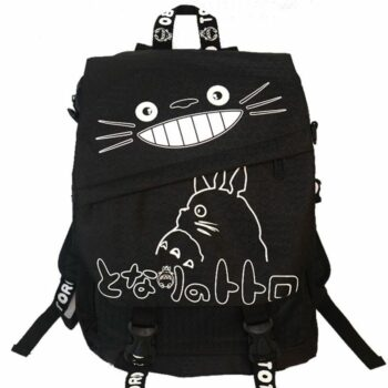 My Neighbor Totoro and Attack on Titan – Black Backpack (2 Styles) Bags & Backpacks