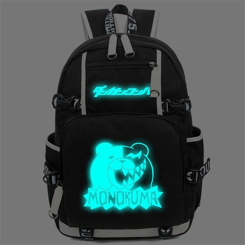 Danganronpa – Monokuma Glowing Backpack (4 Styles) Bags & Backpacks