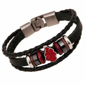 Naruto – Akatsuki Leather Bracelet (2 Styles) Bracelets