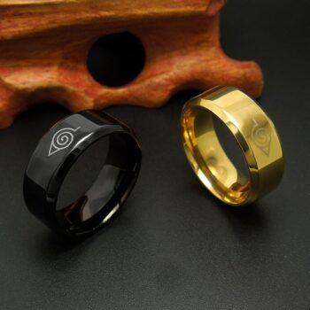 Naruto – Leaf Village Stainless Steel Ring (3 Colors) Rings & Earrings