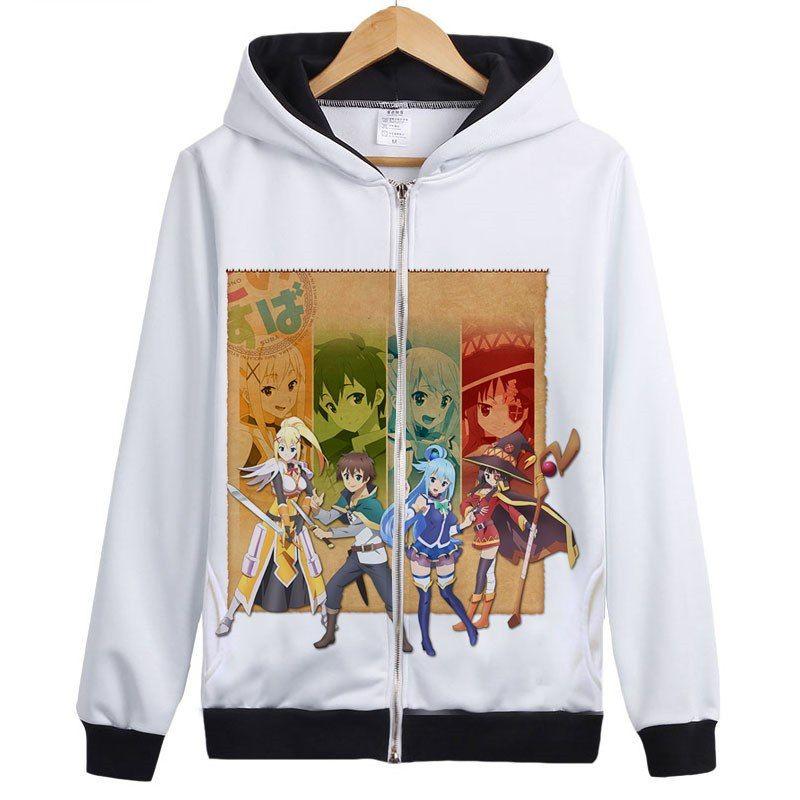 KonoSuba – Megumin, Aquan, Darkness, Eris and Satou Zip-Up Hoodie (20 Styles) Hoodies & Sweatshirts