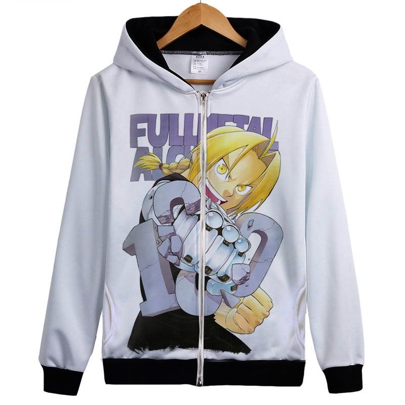 Fullmetal Alchemist – Edward, Alphonse, Winry and Roy Zip-Up Hoodie (30 Styles) Hoodies & Sweatshirts