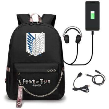 Attack on Titan – Eren, Mikasa, Levi, Titans Backpack (8 Designs) Bags & Backpacks