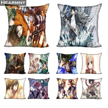 Attack On Titan – Pillow Cases (25+ Designs) Bed & Pillow Covers
