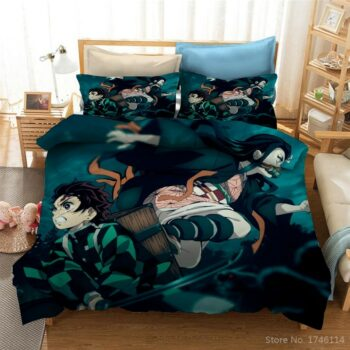Demon Slayer – 3D Printed Duvet Covers and Pillow Covers (10+ Designs) Bed & Pillow Covers