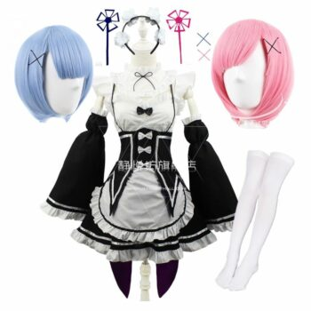 Re: Zero – Ram/Rem Cosplay Costume (2 Sets) Cosplay & Accessories