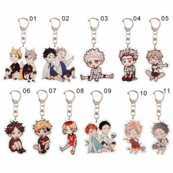 Haikyuu!! – Cute Characters Keychains – Hinata, Oikawa, Tobio Keychains (20 Styles) Keychains