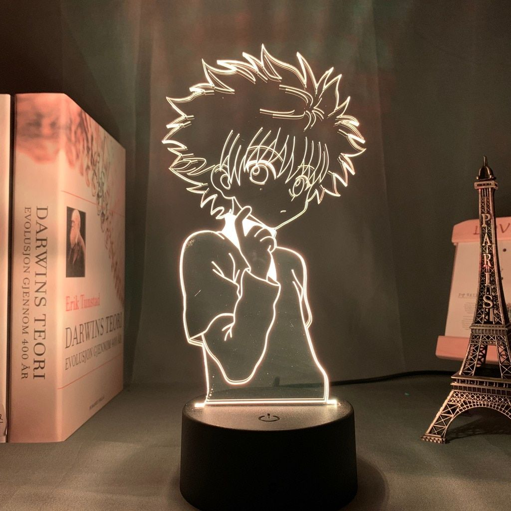 Hunter X Hunter – Killua, Hisoka, Gon, Kurapika lighting lamps (7 changeable colors) Lamps