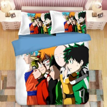 One Punch Man – All powerful characters bedding and pillow covers Bed & Pillow Covers