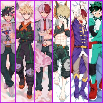My Hero Academia – Male Characters Dakimakura hugging body pillow covers (10+ Designs) Bed & Pillow Covers
