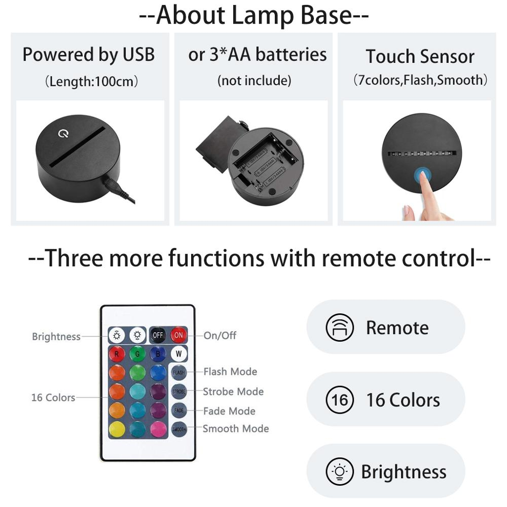 One Piece – Zoro RGB Lighting Lamp (7/16 Colors) Lamps