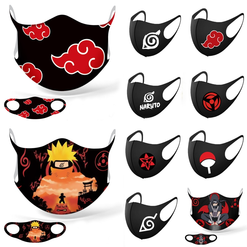 Naruto – Different characters and Logos Face Masks (10+ Designs) Face Masks