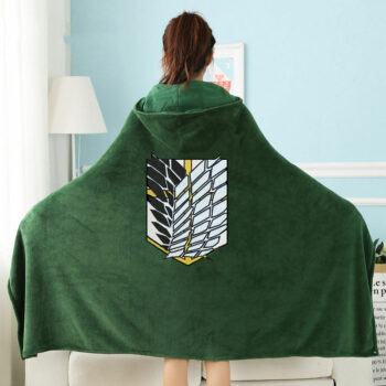 Attack on Titan – Survey Corps Cosplay Blanket Cloak with Hoodie Cosplay & Accessories