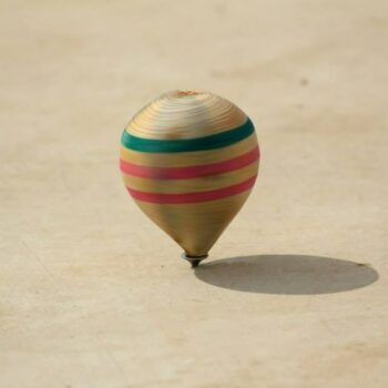 Pine Wood Spinning Top (Sturdy and Durable) Games