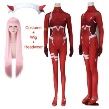 Darling In The Franxx – Zero Two Full cosplay Costume (Full set) Cosplay & Accessories