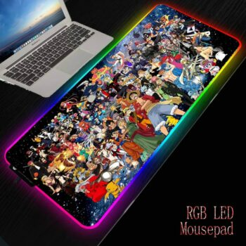 One Piece – All-in-One Characters Themed Large RGB Mousepads (15+ Designs) Keyboard & Mouse Pads