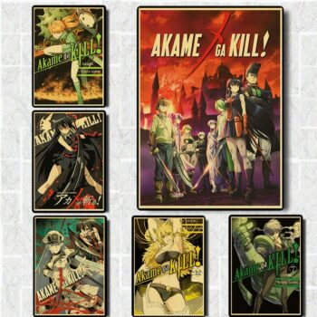 Akame ga Kill! – Different Characters Posters and Wallpapers (20+ Designs) Posters
