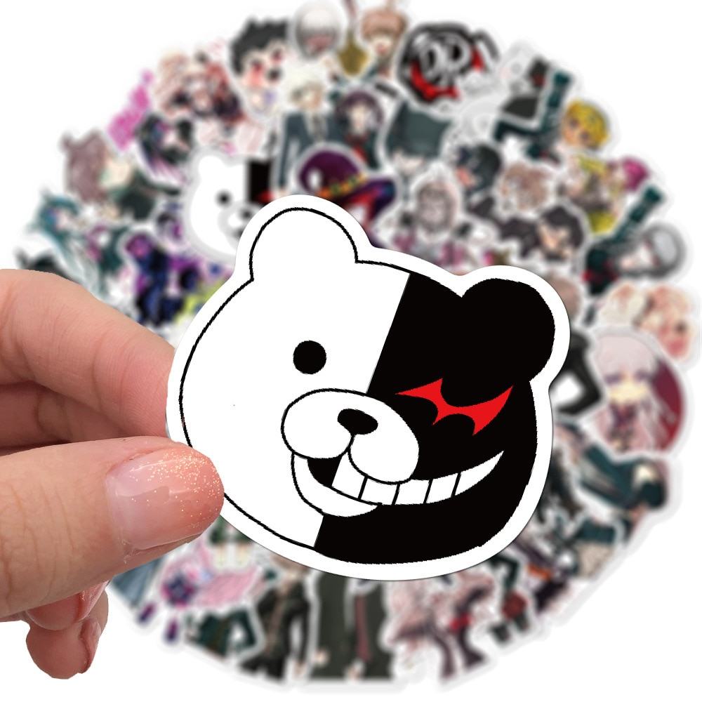 Danganronpa – All Characters Themed Waterproof Stickers (10/30/50 Pieces) Action & Toy Figures