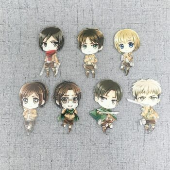 Attack on Titan – Different Characters Cute Acrylic Magnets (7 Designs) Keychains