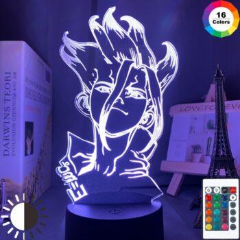 Dr. Stone – Senku themed 3D Lighting Lamp (3/7/16 Colors) Lamps