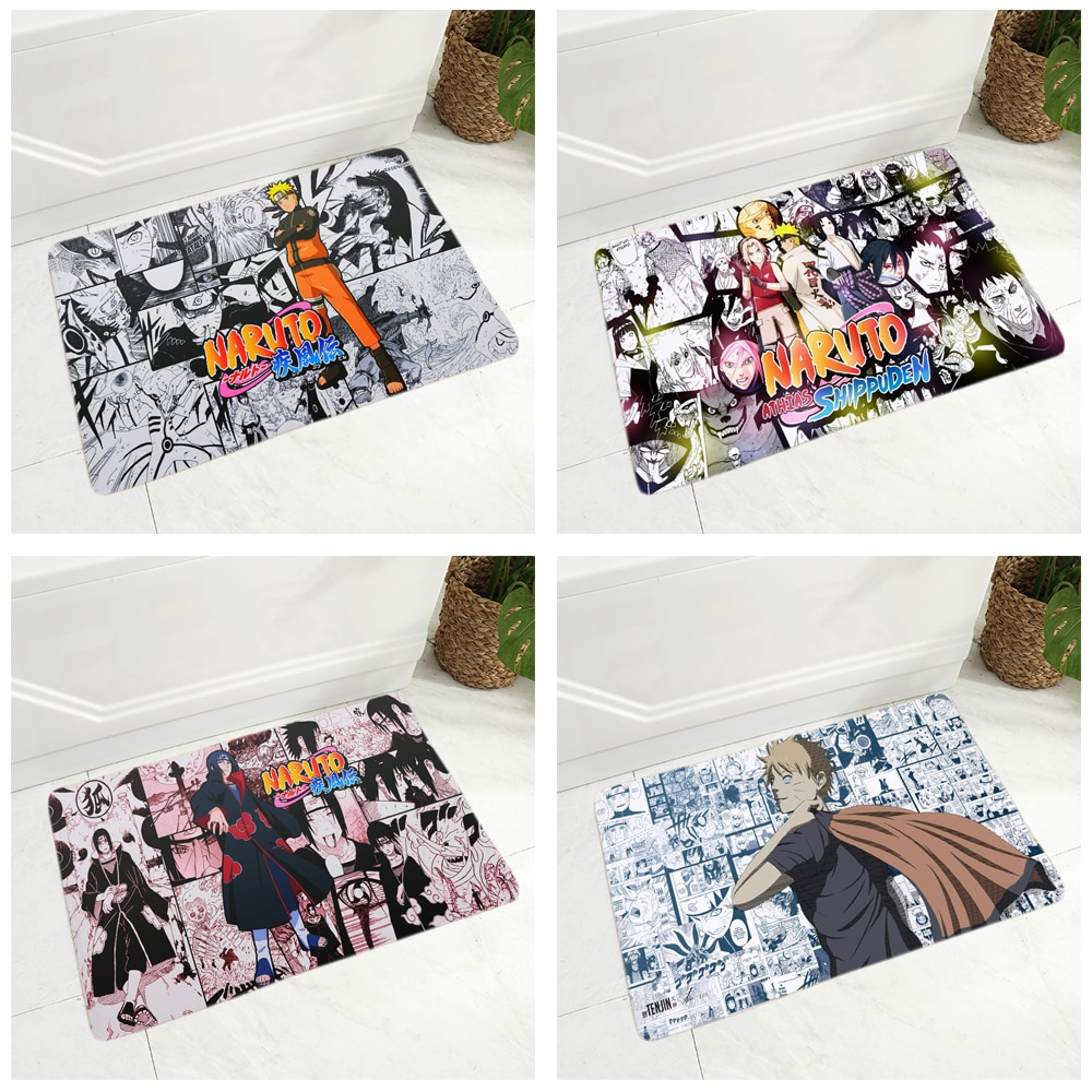 Naruto – Different Characters themed floor mats (25 Designs) Cosplay & Accessories