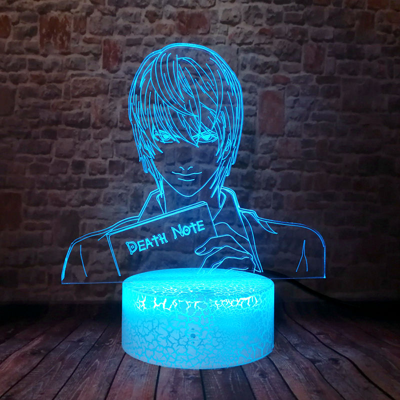 Death Note – Light, Shinigami, and L Lighting Lamps (6 Designs) Lamps