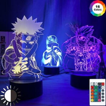 Naruto – Different Characters LED Lighting Lamps (7/16 colors) Lamps