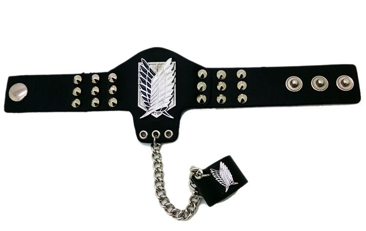 Death Note, Naruto, Attack on Titan, One Piece – Different Characters Chained Bracelets (5 Designs) Bracelets