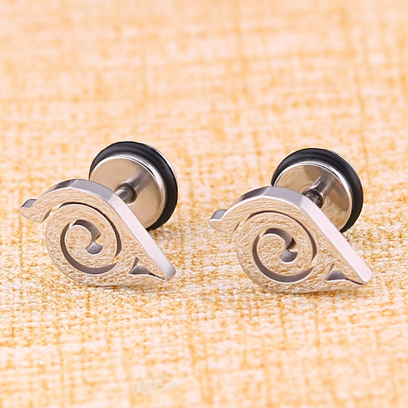 Naruto – Different Characters and Symbols Themed Stainless Steel Earrings (15+ Designs) Rings & Earrings