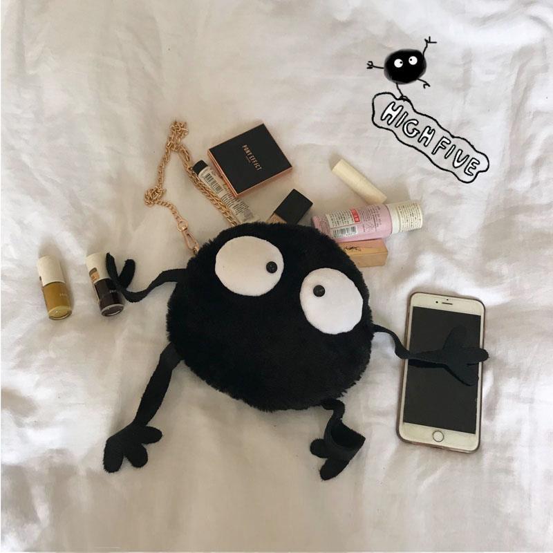 My Neighbor Totoro – Cute Hopping Susuwatari Handbag/Shoulder bag (2 Designs) Bags & Backpacks