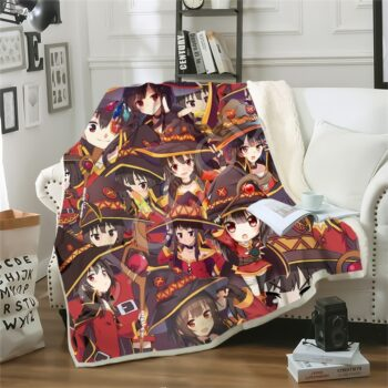 KonoSuba – Megumin 3D Printed Blankets for Sofa or Bed (10 Designs) Bed & Pillow Covers