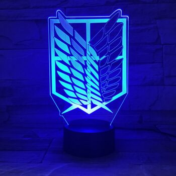 Attack on Titan – Survey Corps Logo Lighting Lamp (7/16 colors) Lamps