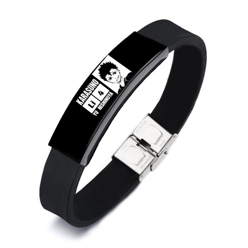 Haikyuu!! All characters Stylish Rubber Bracelets (Men/Women) Bracelets