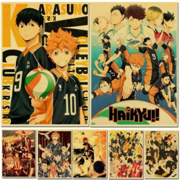Haikyuu!! All Characters Premium Wall Poster Stickers (45+ Designs) Posters