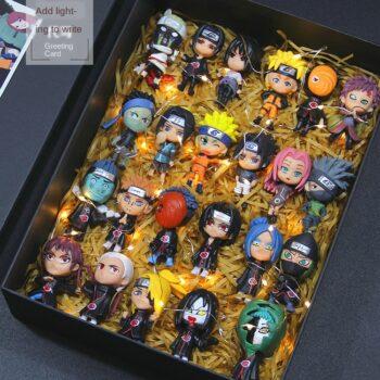 Naruto Garage Kit Model Full Set Doll Cute Sasuke Kakashi I Aro Weasel Decoration Gift Set Uncategorized