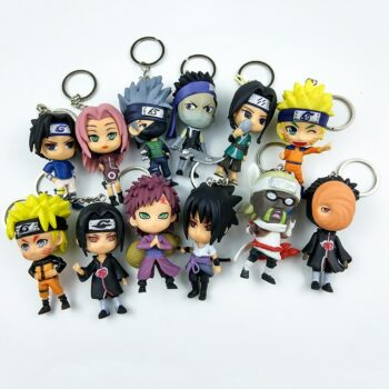New 6pc/set Anime Naruto Action Figure toys 3″ Q Version Naruto Keychain PVC Figures Model Collection 12pcs Gift Toy WX170K Uncategorized