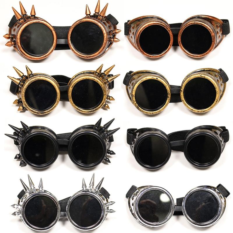 Danganronpa V3 Iruma Miu Cosplay glasses Prop Gothic Cosplay Rivet Steampunk Goggles Glasses Welding Punk Uncategorized