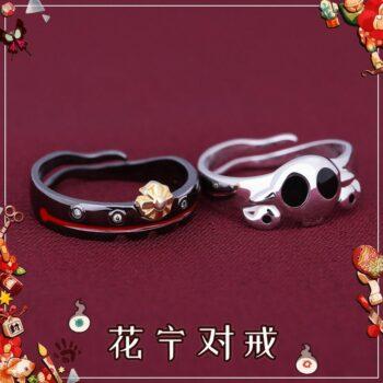 Anime Toilet Bound Jibaku Shounen Hanako kun Nene Cosplay S925 Sterling Silver Finger Ring Men Women's Adjustable Jewelry Gift Uncategorized