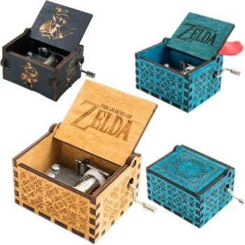 Game The Legend of Zelda Theme Handmade Engraved Wooden Music Box Crafts Cosplay Uncategorized