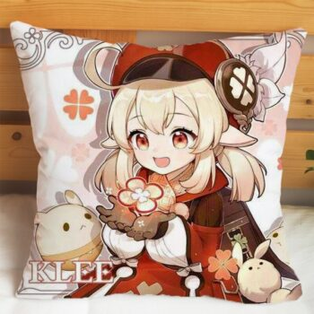 Game Genshin Impact Pillows Cases Pillowcase Klee Paimon Keqing Barbara Pillowcases Gifts Soft Pillow Inner Covers Two Sides Uncategorized