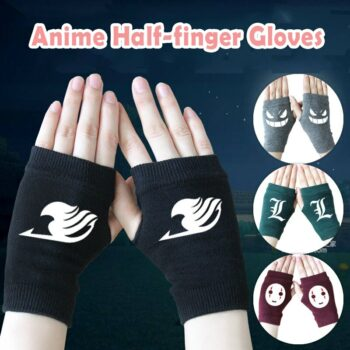 Different Animes Themed Comfortable Half-Fingered Gloves (15 Designs) Cosplay & Accessories