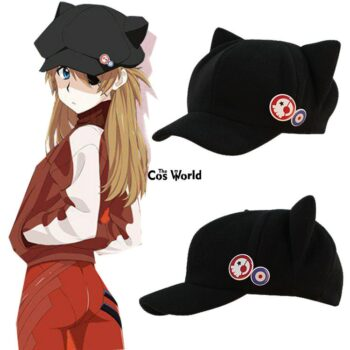 Neon Genesis Evangelion – Asuka Shikinami Themed Cute Cap with Ears (2 Designs) Caps & Hats