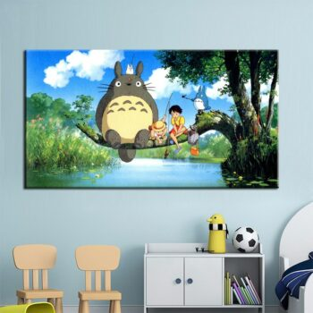 My Neighbor Totoro – All Main Characters Themed Beautiful Poster (Different Sizes) Posters