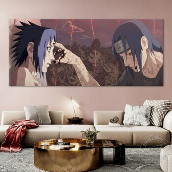 Naruto – Sasuke and Itachi Emotional Canvas Poster (Different Sizes) Posters