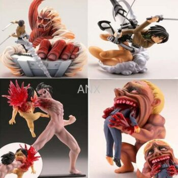 Attack on Titan – Different Cool Characters PVC Action Figures (4 Pieces/Set) Action & Toy Figures