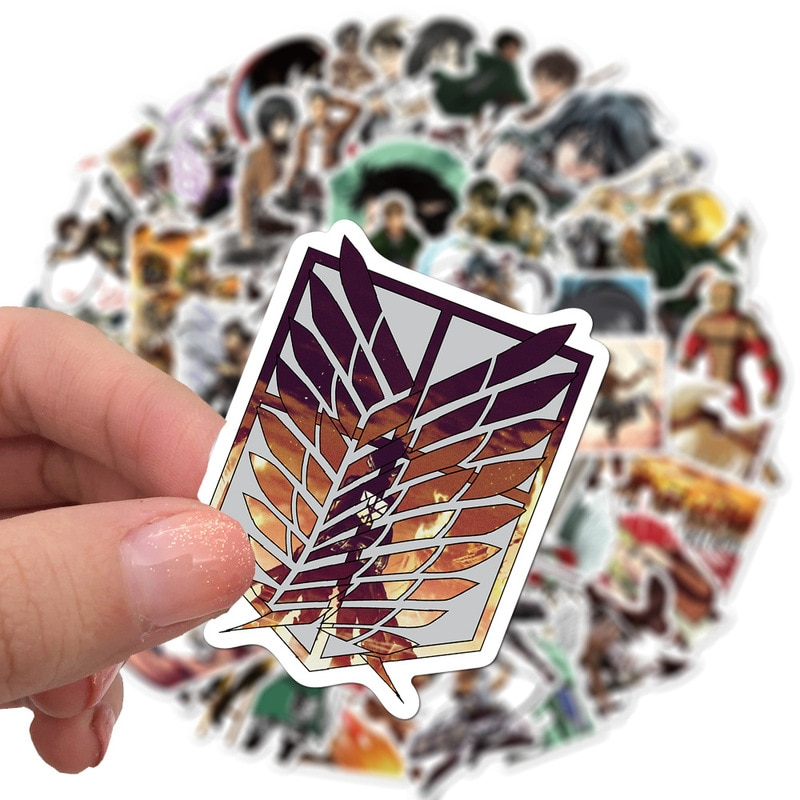 Attack on Titan – All Characters Stickers (10/50/100 Pieces) Posters