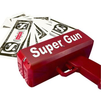 Funny Rich Money Gun With Stack of Fake Money Games