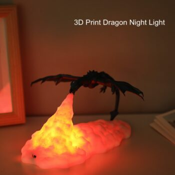 Dragon Lamp – Rechargeable with Lighting effect (2 Colors) Lamps
