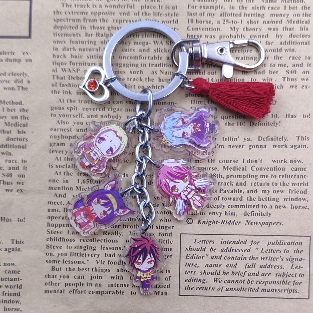 No Game No Life – Different Characters All-in-One Keychains (4 Designs) Keychains